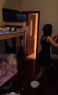 busty lesbian schoolgirl playing