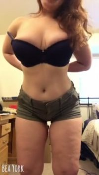blonde undressing totally natural