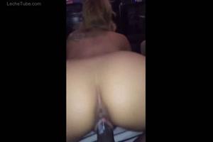 blonde nailed riding