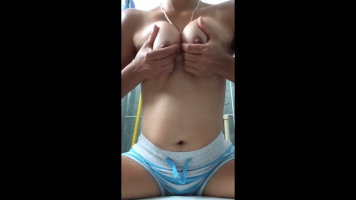 17 year old girl touching the shell