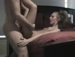 Skinny young girl penetrated from behind