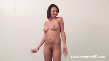 Girl first time taking porn casting