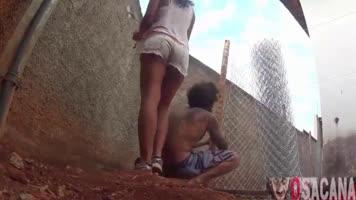 Couple bandits fucking outdoors