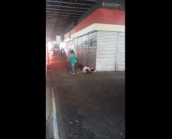Sexual madness couple fucking on the street
