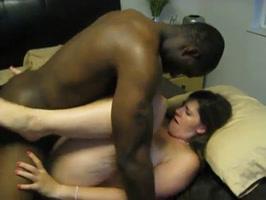 Interracial strong sex screaming girl has orgasm