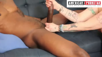 Julio Gomez of huge cock is masturbated by the friend