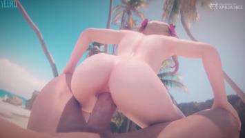 3D animación porno trió de anime