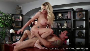 The blonde stormy daniels having sex in the office