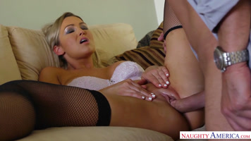 Abbey brooks feels happy when they do the oral and take it