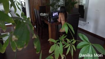 Caught in the kitchen watching porn videos xxx