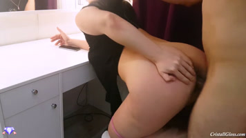 After playing with her cute ass, she penetrates