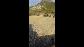 Cuídense los que le gustan singar en el monte, miren esto!