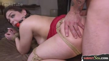 Bootylicious slut gagged and penetrated hard in doggystyled