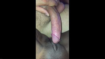 White husband with hard cock fucking his wife's black pussy
