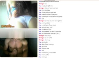 Omegle live kinky teen entertains herself with her stepbrother