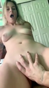 Morning Dick Ride riding my cock the sweet blonde