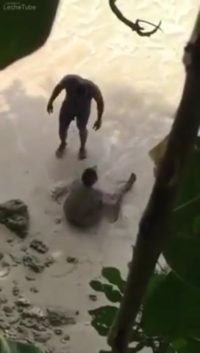 Trini beach porn. Boyfriends caught outdoors having sex