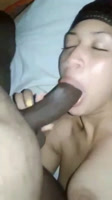 Flaca dominicana se traga el pene del novio