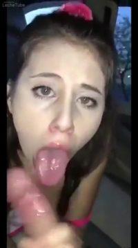 Public Sex Clip, Violet Giving Head In Public